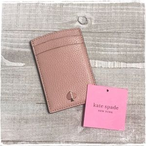 NWT! Kate Spade Polly Card Case Holder Pink